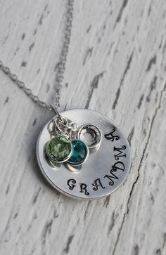 grandma necklace grandma jewelry hand stamped by loveherbyalissa
