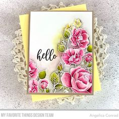 My Favorite Things December Release Countdown Begins! – My Love For Paper Flower Stamp, Flower Cards, My Flower, Arches Watercolor Paper, Mft Stamps, Floral Theme, Blooming Flowers, December, Cards