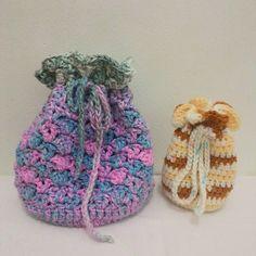 Leftover yarns project : drawstring bags Tas yang besar bisa diisi charger hp dan atk atau kosmetik dan yang kecil buat diisi koin #crochet #drawstringbag #crochetlove #crochetaddict #crochetgeek #handmade #crochetersofinstagram #craftastherapy #rajut #tasrajut #merajut #merenda #craftindonesia by ninditasyaw