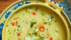 Ciorbă de burtă cu smântână Cheeseburger Chowder, Hummus, Food And Drink, Ethnic Recipes, Romania, Soups, Happy, Pork, Soup