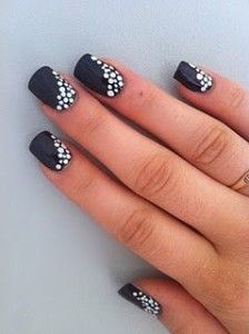 awesome black and white nails