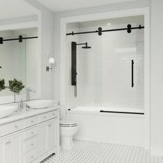 Delta Classic 400 Curve 60 in. x 62 in. Frameless Sliding Tub Door in Stainless-B55910-6030-SS - The Home Depot Bathtub Shower Combo, Bathroom Tub Shower, Shower With Tub, Dyi Bathroom, Bathroom Designs, Bathroom Cleaning, Bathroom Fixtures, Budget Bathroom, Simple Bathroom