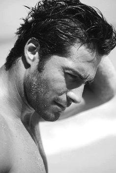 Handsome Is: Beto Malfacini, Brazilian model Mae West, Beto Malfacini, Kristen Ashley Books, Brazilian Models, Male Face, Male Beauty, Perfect Man, Model Agency, Bearded Men