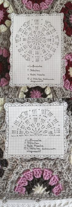 Crochet Hexagon - Chart ❥ 4U // hf