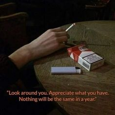 ~ that cigarette you're holding... that's your very own suicide ~