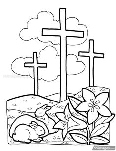 Little ones love to color, so these coloring pages are perfect for enjoying family time while strengthening their belief. Enjoy these free printable Christian coloring pages. Christian Coloring Pages Easter Coloring Pages Printable, Easter Bunny Colouring, Easter Egg Coloring Pages, Spring Coloring Pages, Easter Printables, Sunday School Coloring Pages, Cross Coloring Page, Bible Coloring Pages, Flower Coloring Pages