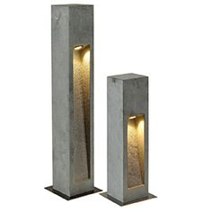 Concrete Light, Concrete Lamp, Driveway Lighting, Exterior Lighting, Beton Design, Concrete Design, Bollard Lighting, Outdoor Lighting, Lighting Concepts