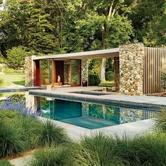 A Nature-Inspired Connecticut Poolhouse : Architectural Digest