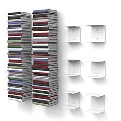 Unsichtbares bücherregal selber bauen  Haseform Bücherturm für 1,80m Bücher anthrazit | Schwebendes ...