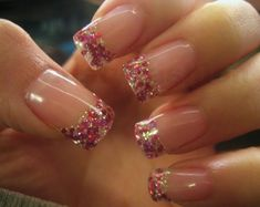I would try this all the time in different sold colors..simple gel nail designs