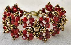 Linda's Crafty Inspirations: Bracelet of the Day: Diamonds and Pearls - Siam