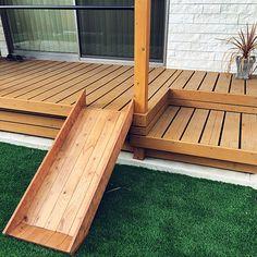 Japanese Modern, Wooden Decks, Outdoor Projects, Porch Swing, Outdoor Furniture, Outdoor Decor, Backyard Landscaping, Sun Lounger, Exterior