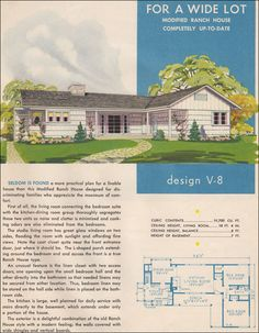 "V-8 ""Modified Ranch House"" 