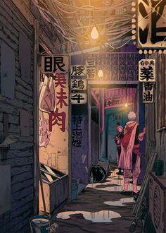 Japanese manga inspired illustration #manga #illustration