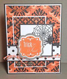 cricut artiste halloween cards | Trick or Treat Halloween Card www.fancymelissa.com #cricut #artiste # ...