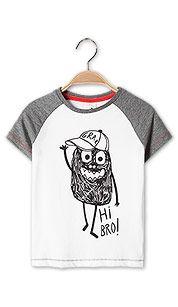 Shirt met korte mouwen in wit