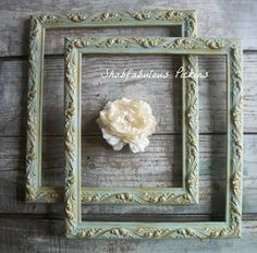 Shabby French Vintage Painted frames ~ Wall decor ~ Cottage Decor