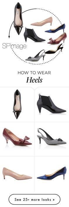 """#ShoesMatter- kitten heels"" by sp-image on Polyvore featuring Karl Lagerfeld, Miu Miu, Prada, Rochas, Versace, Jimmy Choo, Paul Andrew, women's clothing, women's fashion and women"