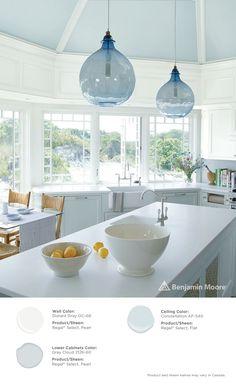 Paints Amp Exterior Stains White Cottage Kitchens Kitchen