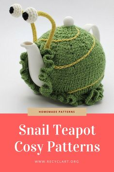 Anke Klempner has designed those supra cute snails patterns for your teapots to make them look like a snail! Love …