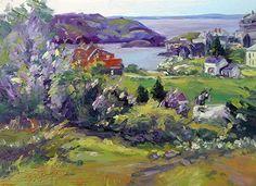 June 6, 2013 Three New Monhegan Island Paintings! Beautiful Here!   Plein Aire in Maine