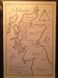 """Map of Scotland based on the book series """"Outlander"""" (OC) - Imgur"""
