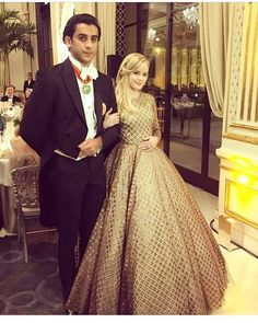 #ReeseWitherspoon's daughter Ava Philippe with her date Maharaja of Jaipur Padmanabh Singh for the evening at Bal des Debutantes Paris. @bravalyn via ELLE INDIA MAGAZINE OFFICIAL INSTAGRAM - Fashion Campaigns  Haute Couture  Advertising  Editorial Photography  Magazine Cover Designs  Supermodels  Runway Models