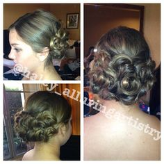 bridal updo  @haley_alluringartistry