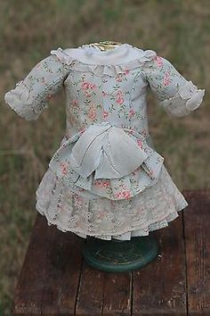 Gorgeous Antique Doll Dress German French BEBE | eBay