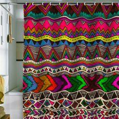 Kris Tate Poncho Shower Curtain