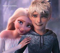 Elsa Y Jack Frost, Jake Frost, Disney Princess Frozen, Elsa Frozen, Sailor Princess, Jelsa, Cute Disney, Disney Art, Disney Font Free