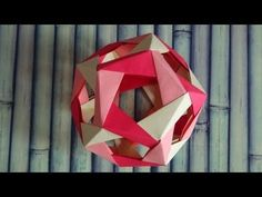 Dodecahedron origami (Robert Neale) - YouTube
