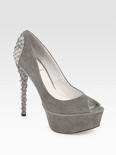 00ae9c4efd3 B Brian Atwood - Blayne. Terri K · Gray shoes · Badgley Mischka Spencer Pump  ...