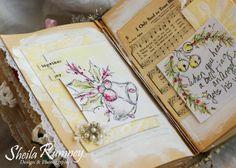 Christmas Art Journal www.sheilarumney.com
