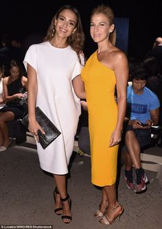 Showstoppers! Jessica Alba, 35, and Jessica Seinfeld, 45, made sure to turn…