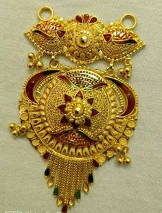 Indian Gold Necklace Designs, Gold Mangalsutra Designs, Gold Ring Designs, Gold Jewellery Design, Gold Jewelry, Gold Pendent, Gold Work, Gold Choker, Temple Jewellery