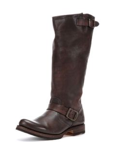 Women's Vintage Veronica Slouch Boot Extended - Dark Brown