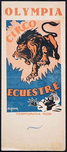 Programa de mà del circ Olympia. 1929 (Biblioteca de Catalunya) Critic, Olympia, Ephemera