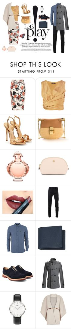 """""""dm"""" by domla ❤ liked on Polyvore featuring beauty, River Island, The Row, Giuseppe Zanotti, Chloé, Paco Rabanne, Tory Burch, Fiebiger, Haider Ackermann and Lyle & Scott"""