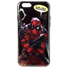Marvel Deadpool Sure Yeah Whatever iPhone 6/6s Case Hot Topic ($12) ❤ liked on Polyvore featuring accessories and tech accessories