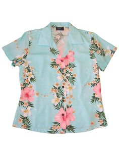 92d35454a001 Check out the deal on Women Aloha Blouse Hibiscus Leis at Shaka Time Hawaii…  #