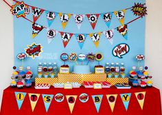 Superhero BABY Shower Party Printable Package  Invitation, INSTANT DOWNLOAD, You Edit Yourself with Adobe Reader