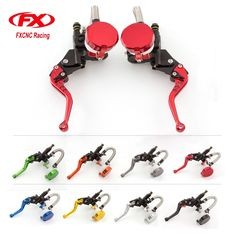 "FX Universal 7/8"" Motorcycle Hydraulic Brake Clutch Lever Master Cylinder Reservoir Set For 125-600CC Motorcycle Accessories"