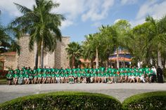 Reliv Distributors pause for a group shot at the Paraiso Maya resort in Mexico, April 2015.