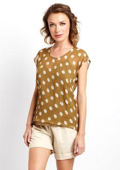 GREYLIN Sleeveless Sequin Polka-Dot Top