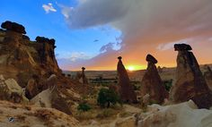 sun set in Cappadocia