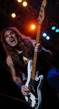 Nobody can whale on the Bass the way Steve Harris from Iron Maiden can!