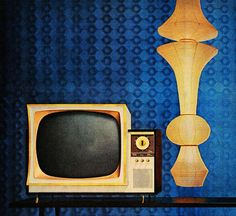 """The Look of the Sixties - detail from 1959 GE """"Forecaster"""" Television ad."""