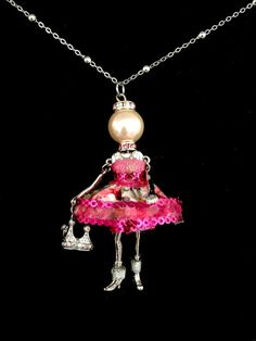 French doll pendant Ellies Belle: Emily by ElliesBelles on Etsy