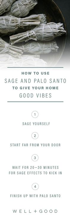 In this video, reiki expert Kelsey Patel shares expert tips for using sage and palo santo to cleanse your home's energy. Well And Good, Good To Know, Feng Shui, Sage Uses, Sage Smudging, Fall Makeup Looks, Wellness Tips, Health And Wellbeing, Home Remedies